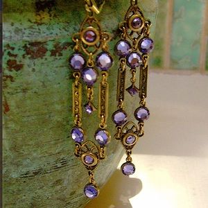 Artisan Art Deco Earrings Swarovski Crystal